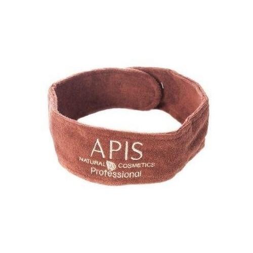 Opaska kosmetyczna frotte brązowa APIS