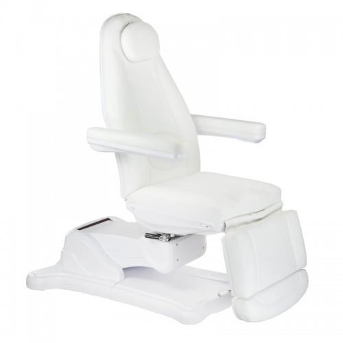 Mazaro BR-6672B Elektryczny fotel kosmetyczny Biały