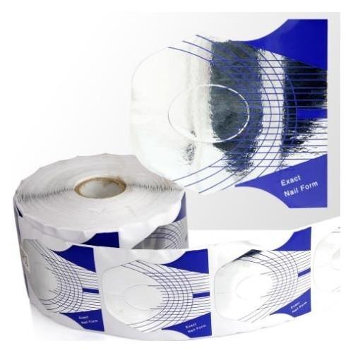 100 sztuk Szablony formy- Exact- srebrno-niebieskie