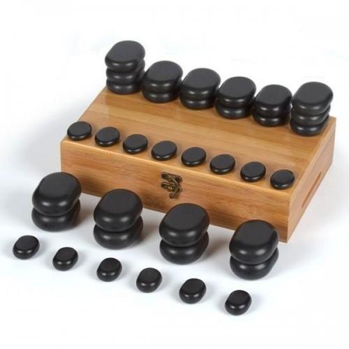 Kamienie do masażu - zestaw kamieni 36szt
