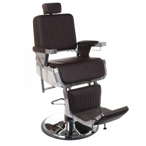 Fotel barberski LUMBER Brązowy