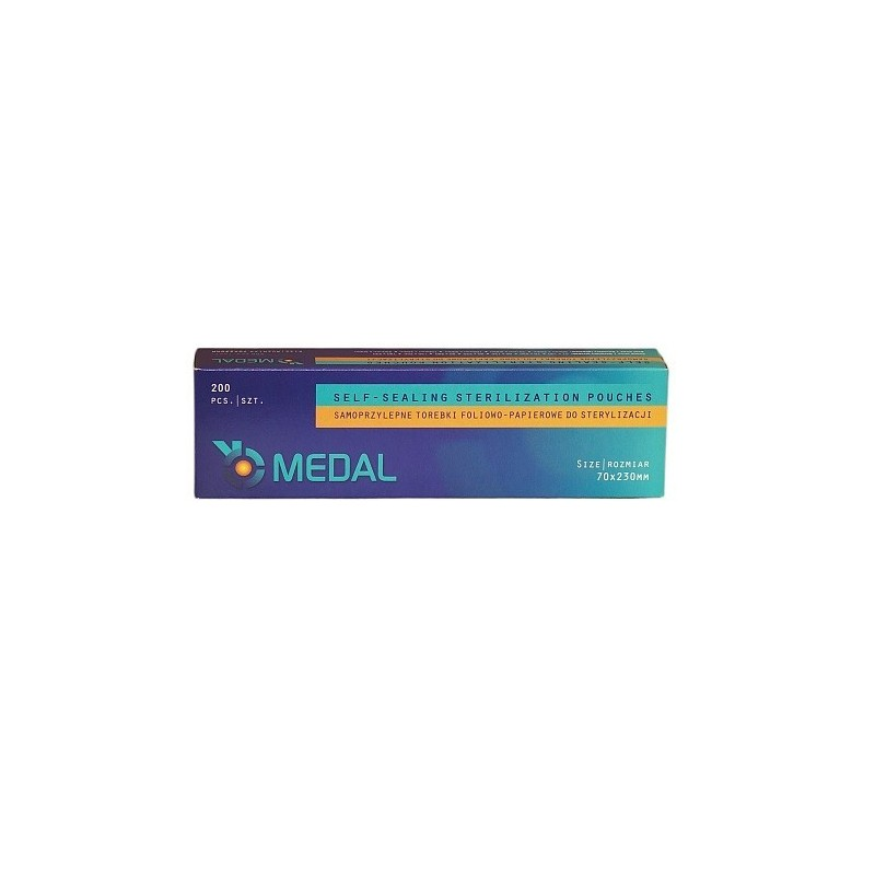 Torebki do sterylizacji 70mm x 230mm 200szt MEDAL