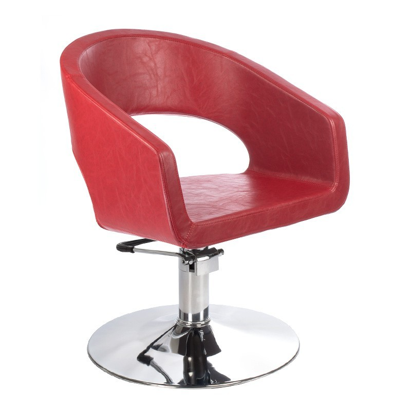 Fotel fryzjerski Paolo Czerwony