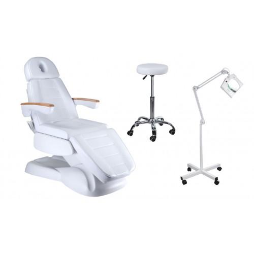 Fotel elektryczny BW-273B + Taboret BD-9920 + Lampa BN-208L