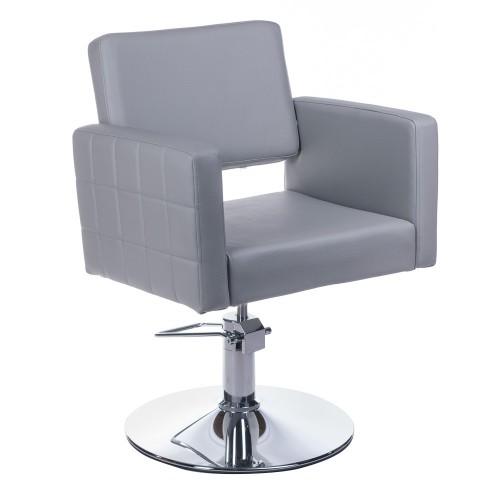 BM-6302 Fotel fryzjerski Ernesto Jasno Szary