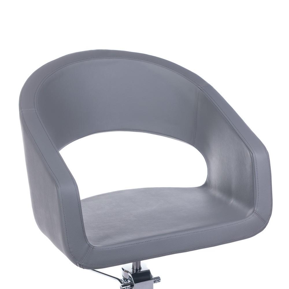 Fotel fryzjerski Paolo Jasno Szary