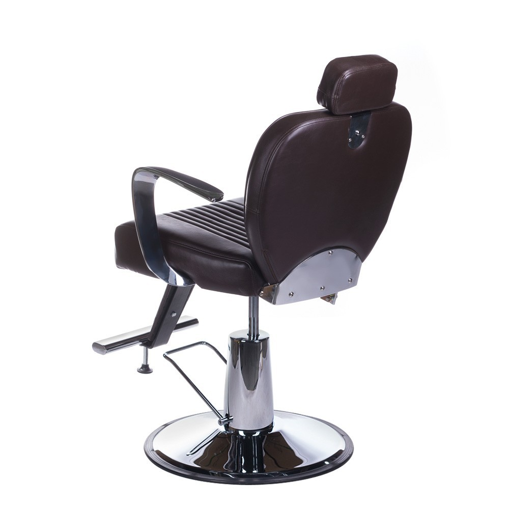 Fotel barberski OLAF Brązowy