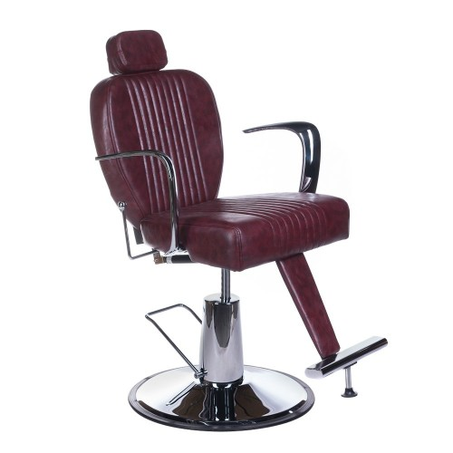 Fotel barberski OLAF Wiśniowy