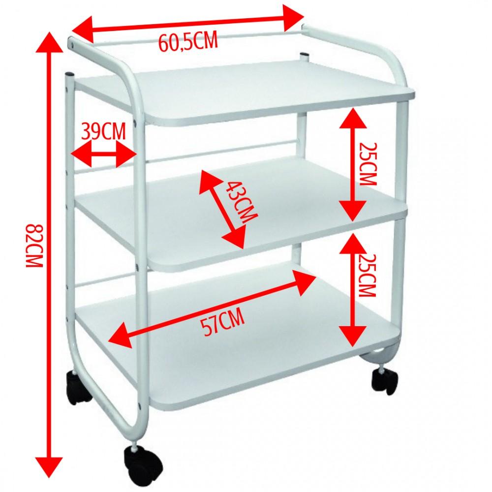 Stolik kosmetyczny 3 półki z uchwytem G