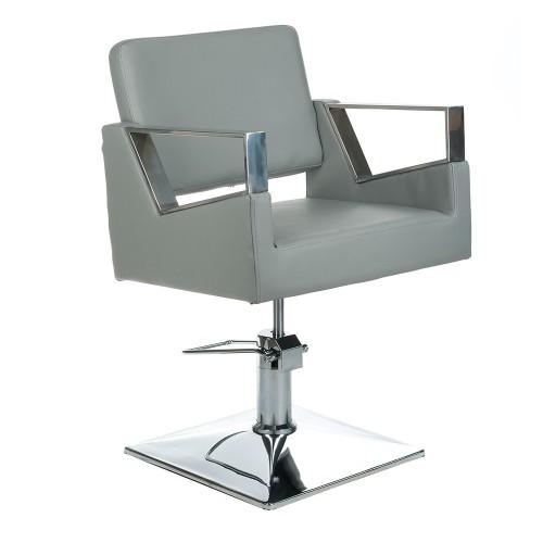 BR-3936A Fotel fryzjerski ARTURO Jasny Szary