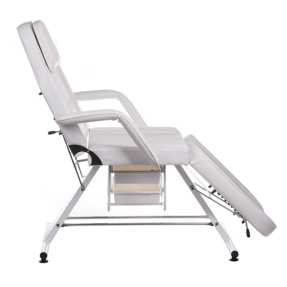 BW-262A Fotel kosmetyczny z kuwetami Biały