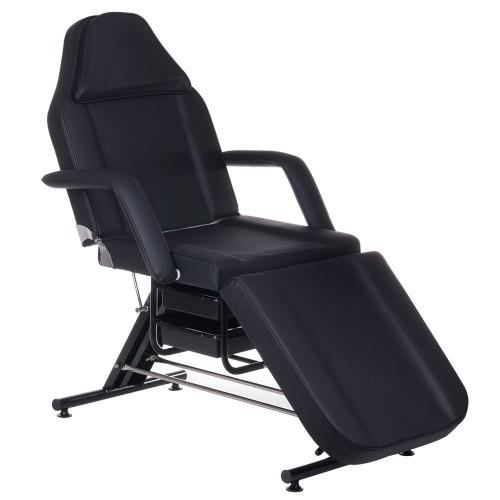 BW-262A Fotel kosmetyczny z kuwetami Czarny