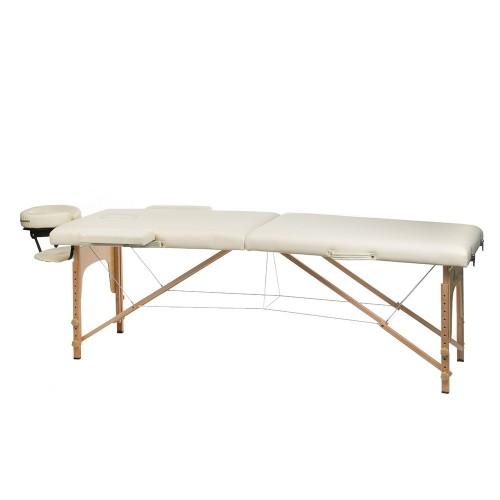 BS-523  Stół do masażu i rehabilitacji Kremowy